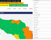 Peta Zonasi Risiko Covid- 19 Aceh