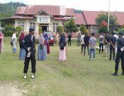 Brimob dan TNI Sosialisasi Bahaya Covid19  ke Sekolah