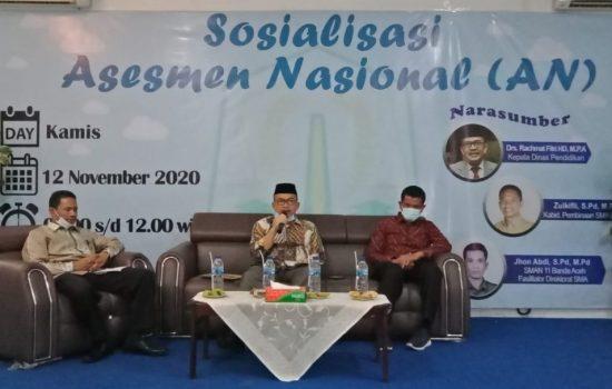 KADISDIK Aceh : Asesmen Nasional Salah Satu Alternatif Transformasi Pendidikan di Tingkat Sekolah