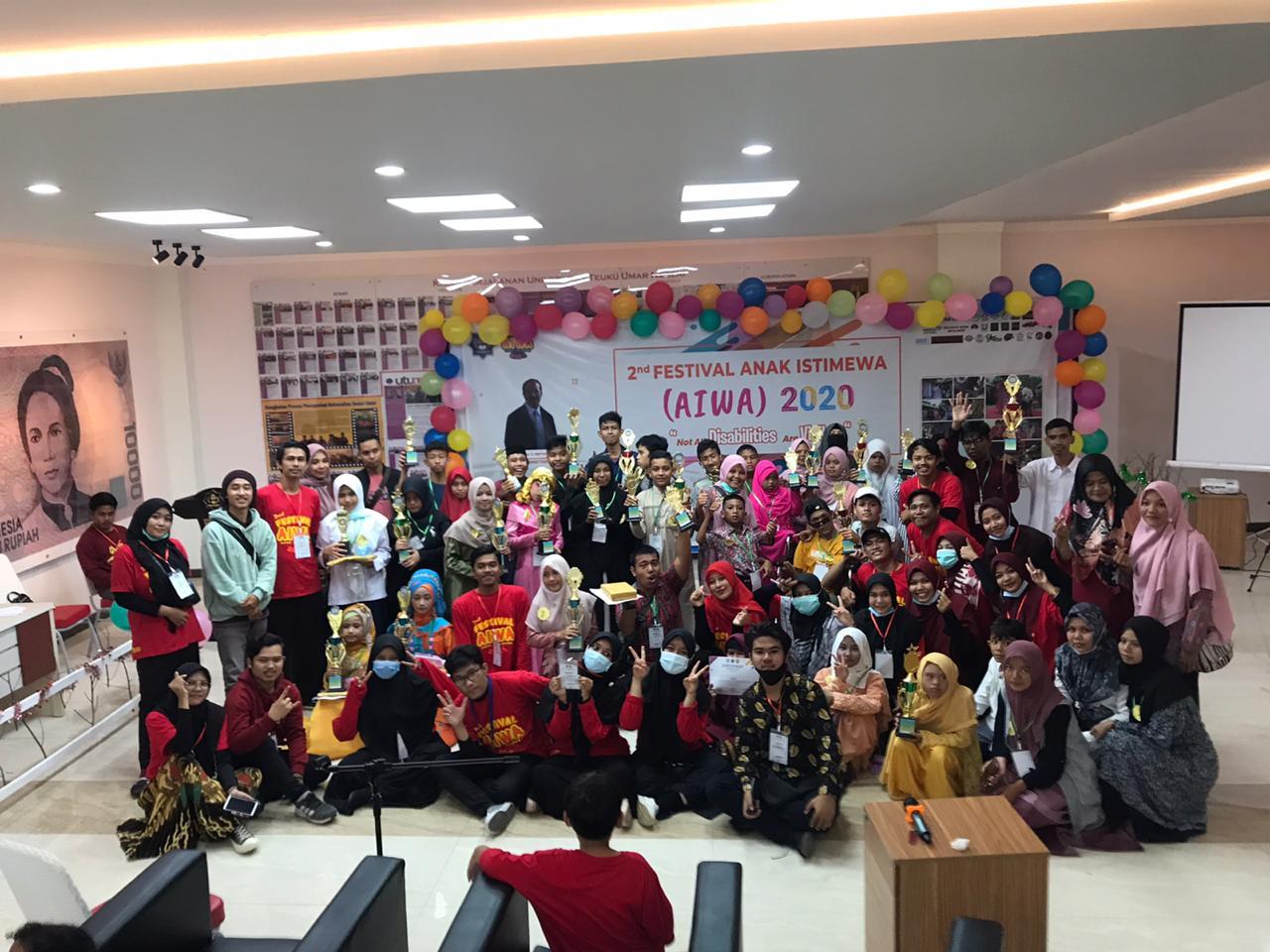 Mengekpresikan Minat Bakat Dari Anak-anak Disabilitas, Universitas Teuku Umar Gelar Festival AIWA