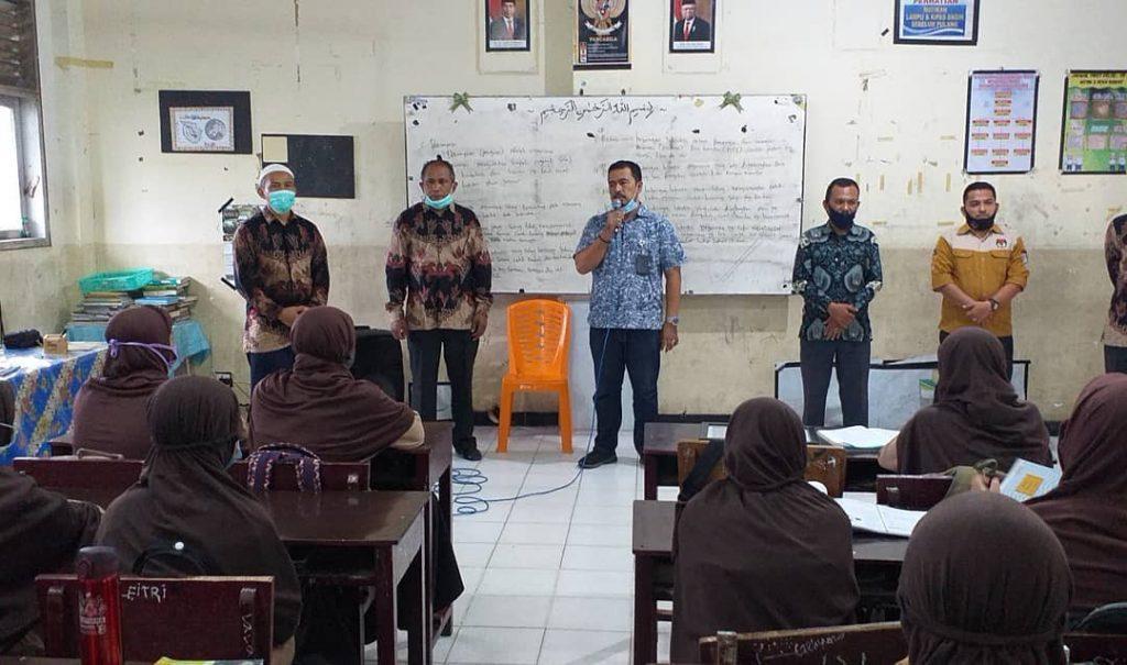 KIP Aceh Barat Buka e-Voting Pemilihan Pengurus OSIM MTsN  Aceh Barat