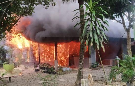 Aceh Tamiang, 1 Unit Rumah Terbakar Hari Ini