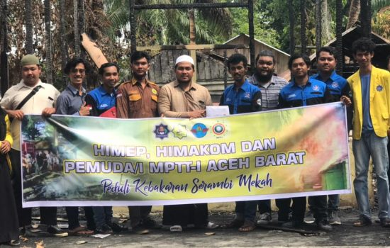 Pemuda MPTT-I bersama HIMEP Dan HIMAKOM salurkan Bantuan Musibah Kebakaran Ke Ponpes Serembi Makkah