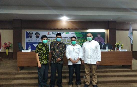 Masyarakat Ekonomi Syariah (MES) Aceh Barat Gelar Seminar Qanun LKS di Kabupaten Nagan Raya