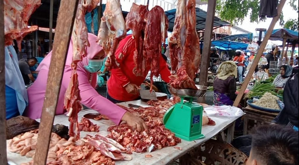 Harga Daging Meugang Di Kota Langsa Mencapai Rp.160.000 per Kg